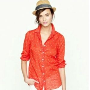 J Crew Cotton Button Down Shirt - Nautical Theme